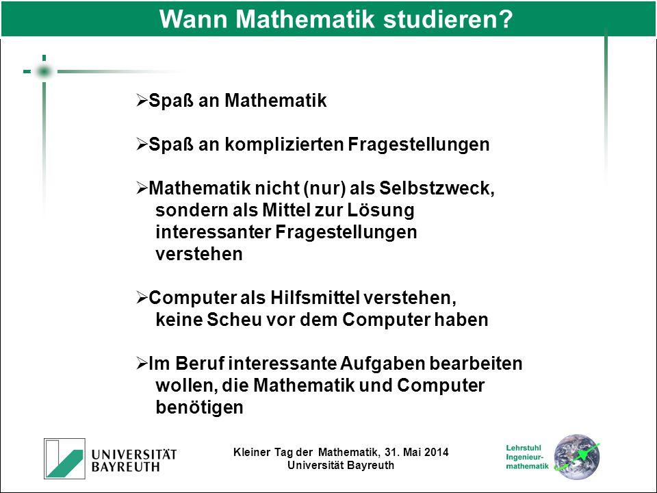 Wann Mathematik studieren
