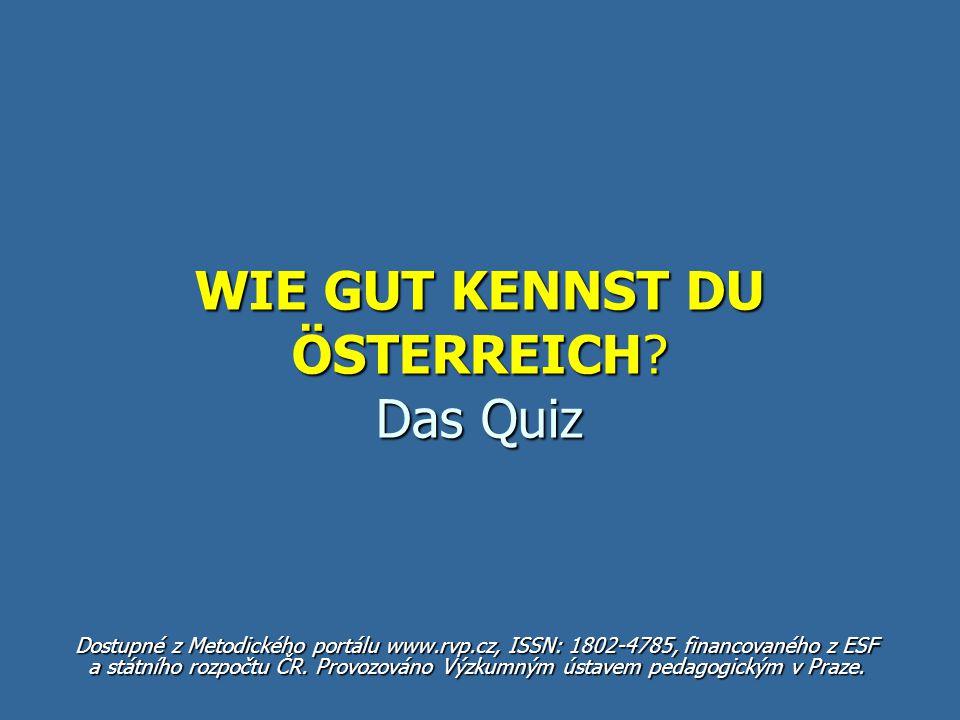 WIE GUT KENNST DU ÖSTERREICH Das Quiz