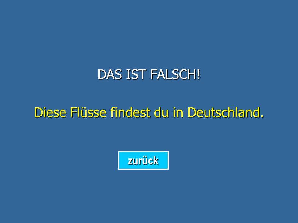 Diese Flüsse findest du in Deutschland.