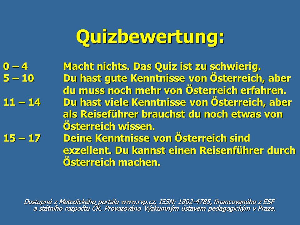 Quizbewertung: