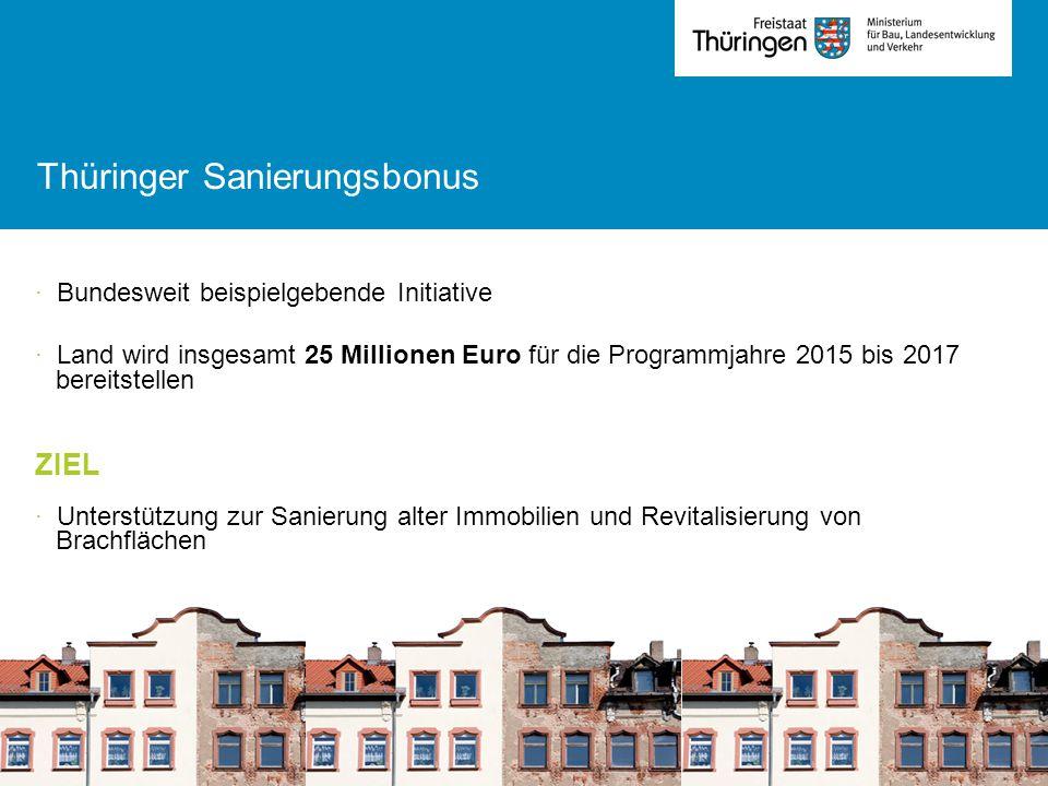 Thüringer Sanierungsbonus