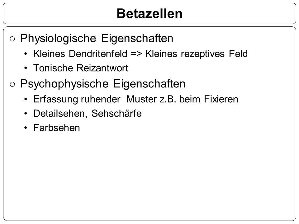 Betazellen Physiologische Eigenschaften Psychophysische Eigenschaften