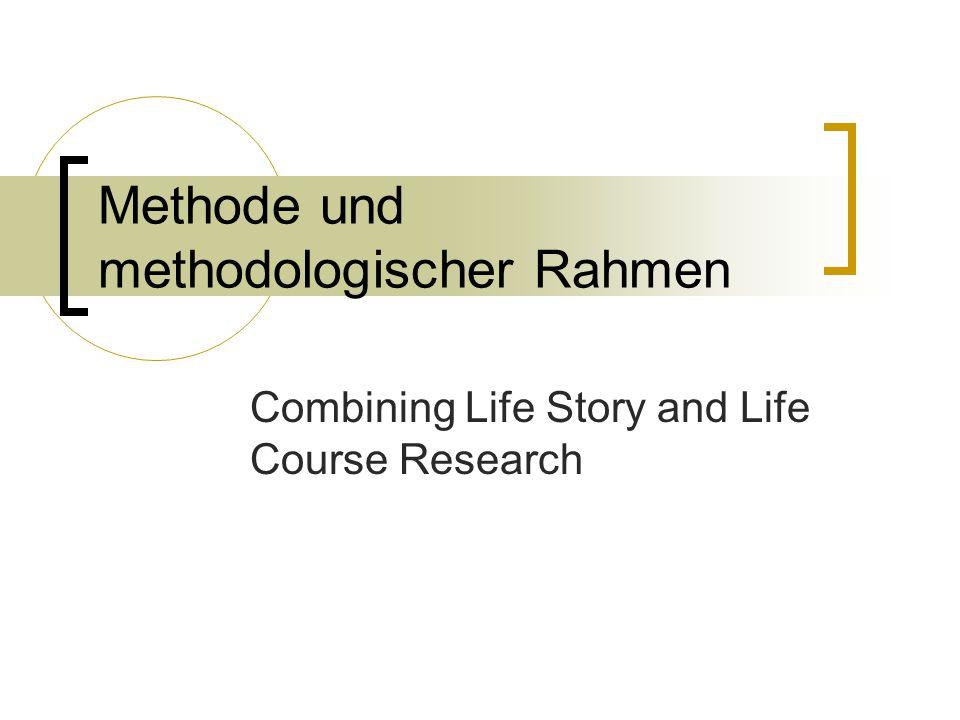 Methode und methodologischer Rahmen