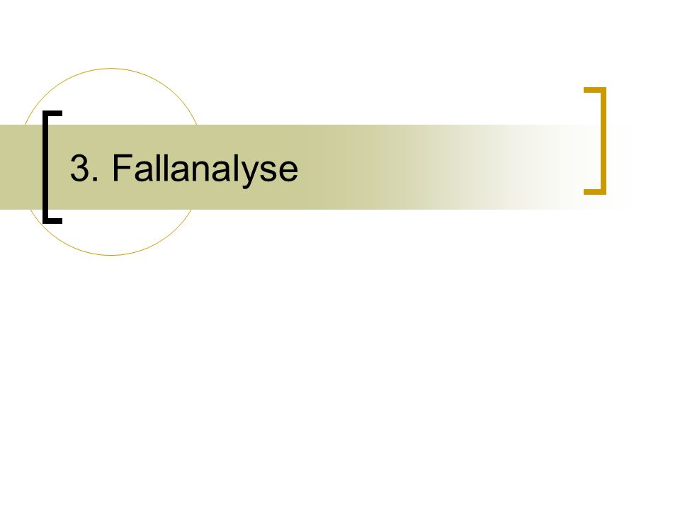 3. Fallanalyse