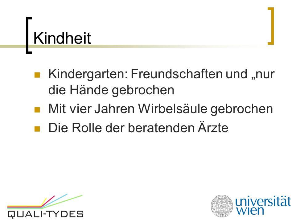 """Kindheit Kindergarten: Freundschaften und """"nur die Hände gebrochen"""