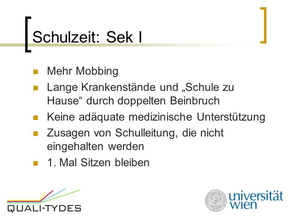 Schulzeit: Sek I Mehr Mobbing