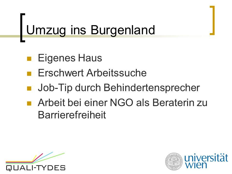 Umzug ins Burgenland Eigenes Haus Erschwert Arbeitssuche