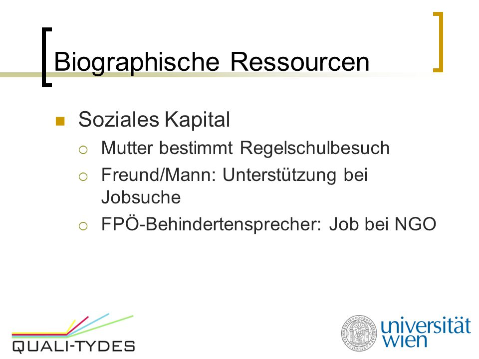 Biographische Ressourcen