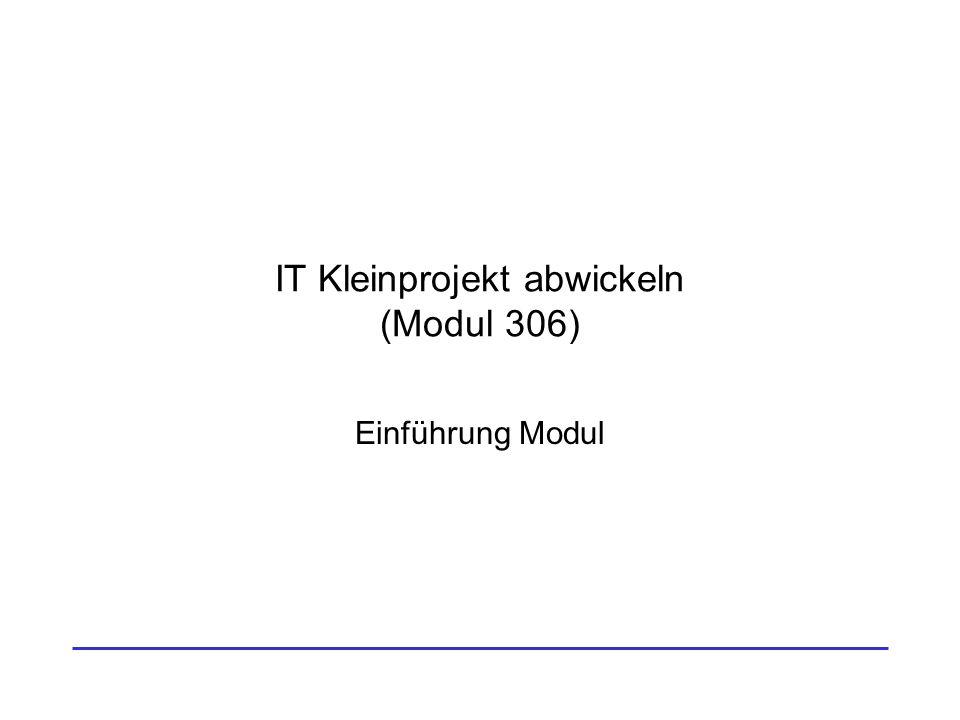 IT Kleinprojekt abwickeln (Modul 306)