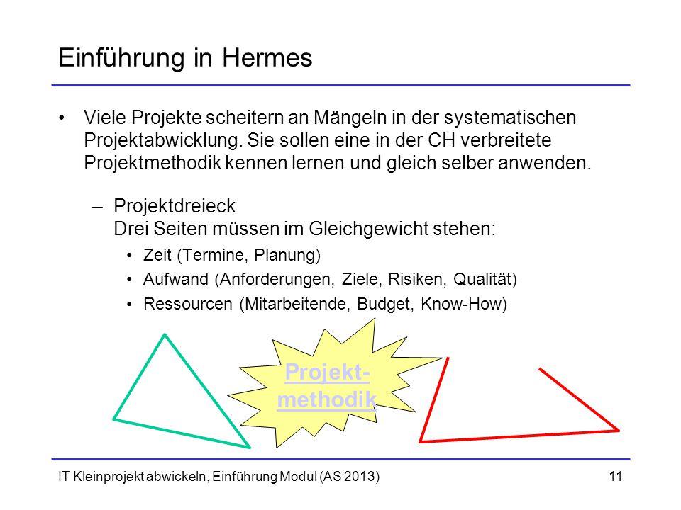 Einführung in Hermes Projekt- methodik