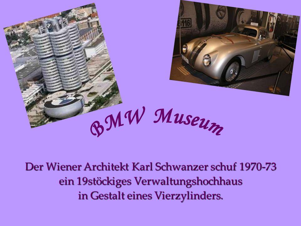 BMW Museum Der Wiener Architekt Karl Schwanzer schuf 1970-73