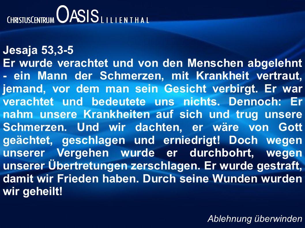 Jesaja 53,3-5