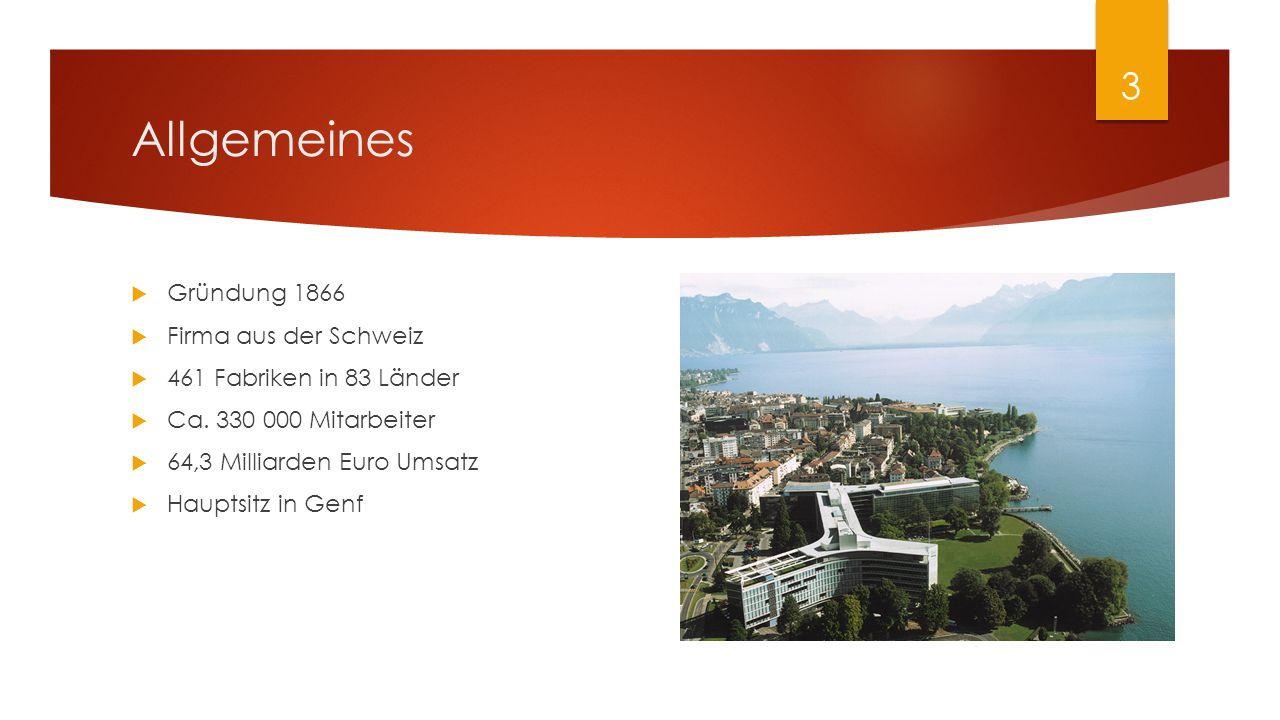 Allgemeines Gründung 1866 Firma aus der Schweiz