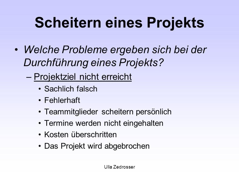 Scheitern eines Projekts