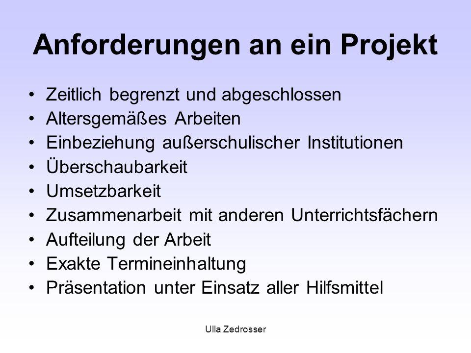 Anforderungen an ein Projekt
