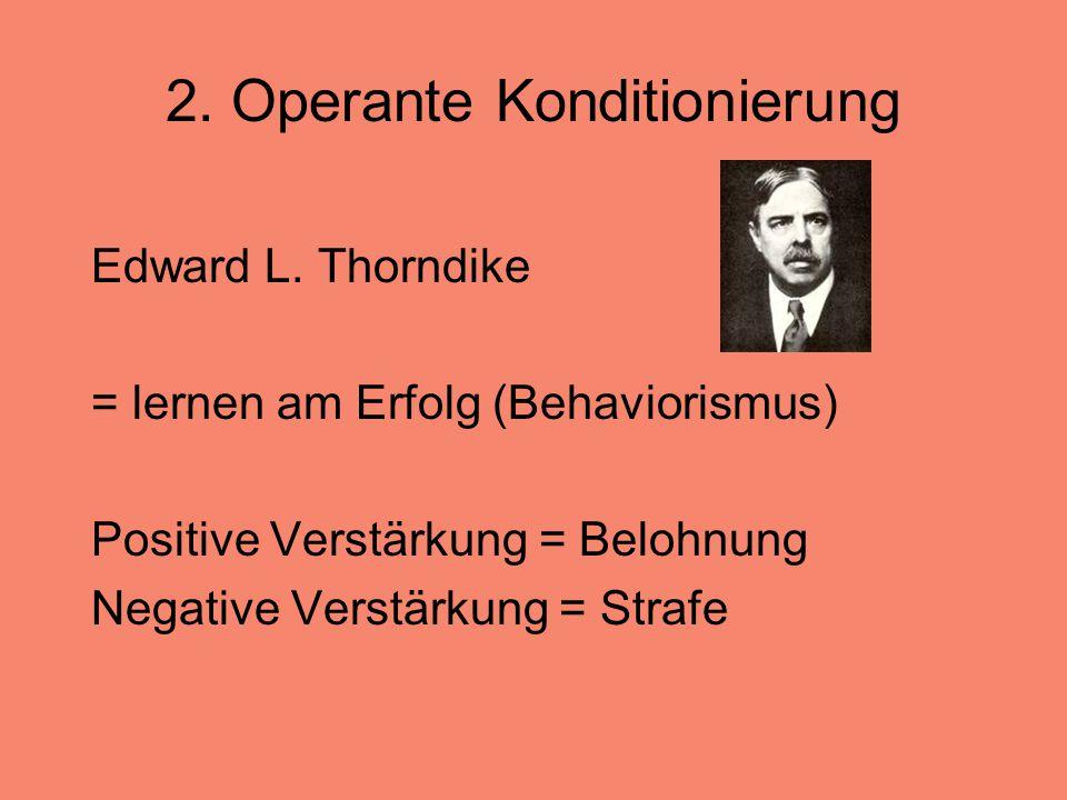 2. Operante Konditionierung