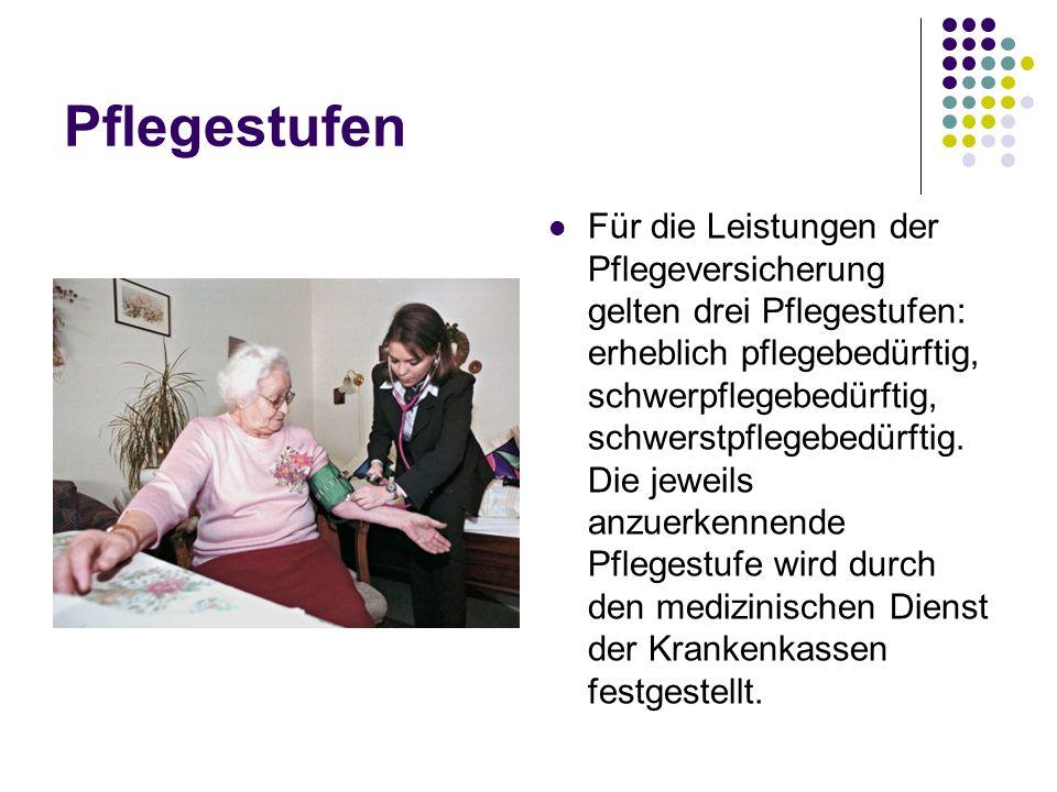 Pflegestufen