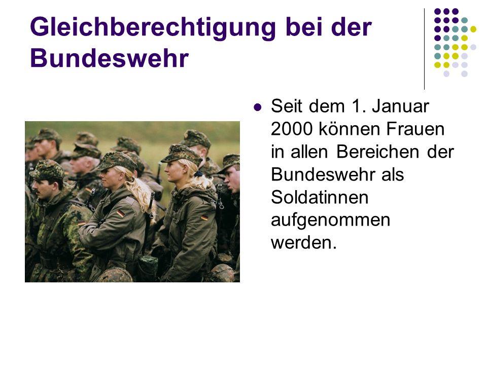 Gleichberechtigung bei der Bundeswehr