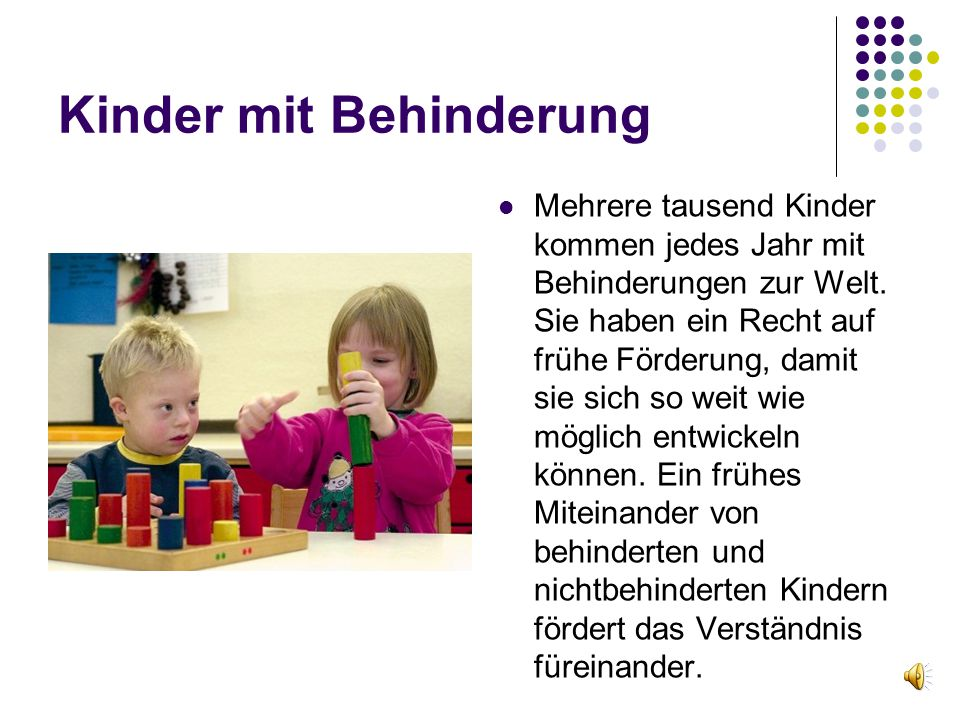 Kinder mit Behinderung
