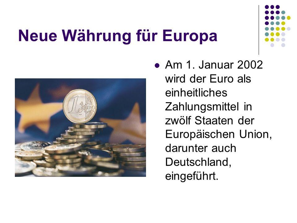 Neue Währung für Europa
