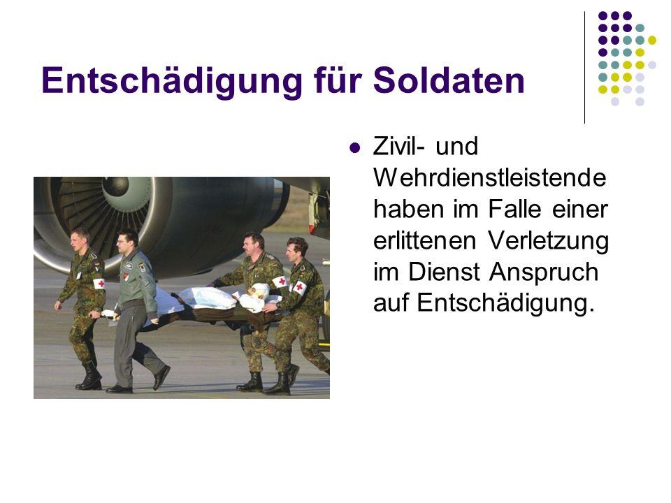 Entschädigung für Soldaten