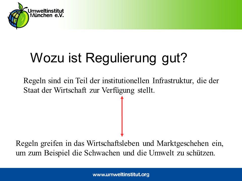 Wozu ist Regulierung gut