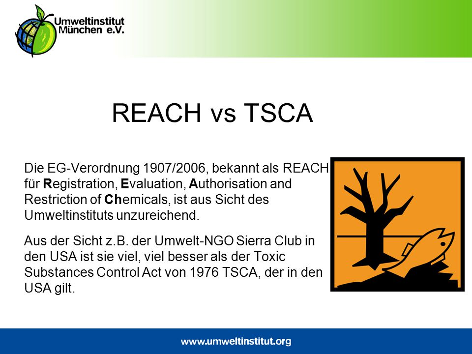 REACH vs TSCA