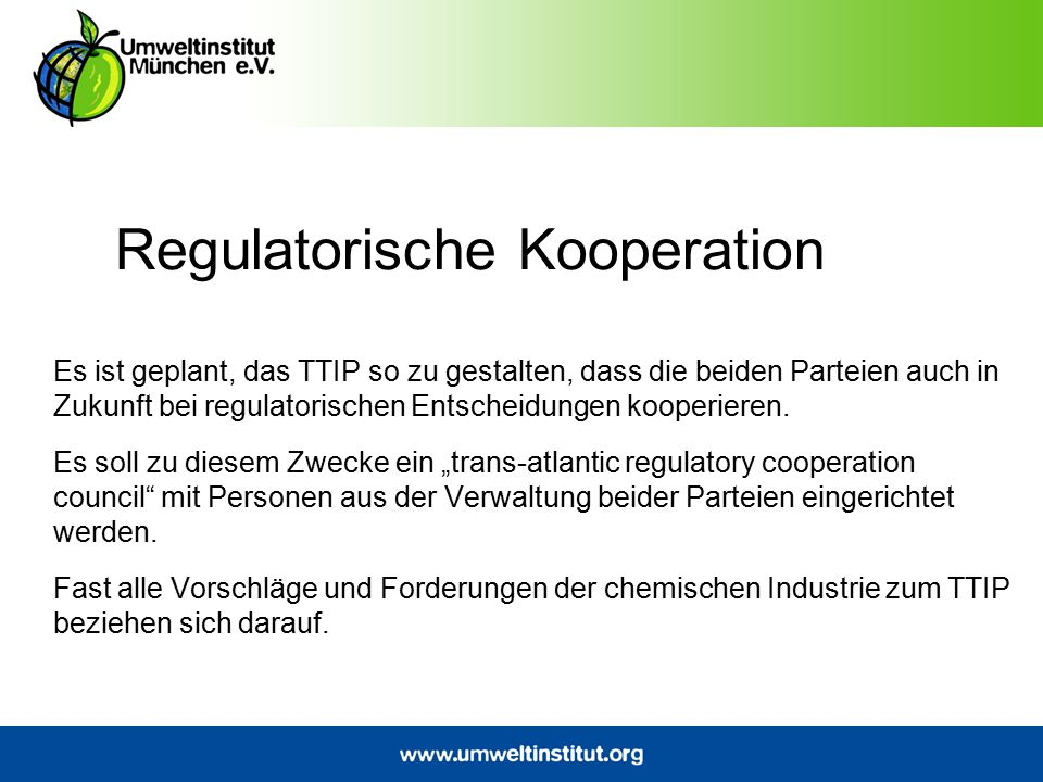 Regulatorische Kooperation