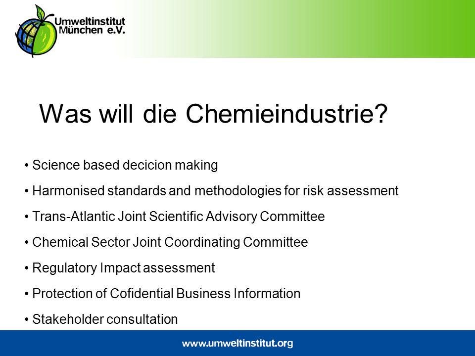 Was will die Chemieindustrie