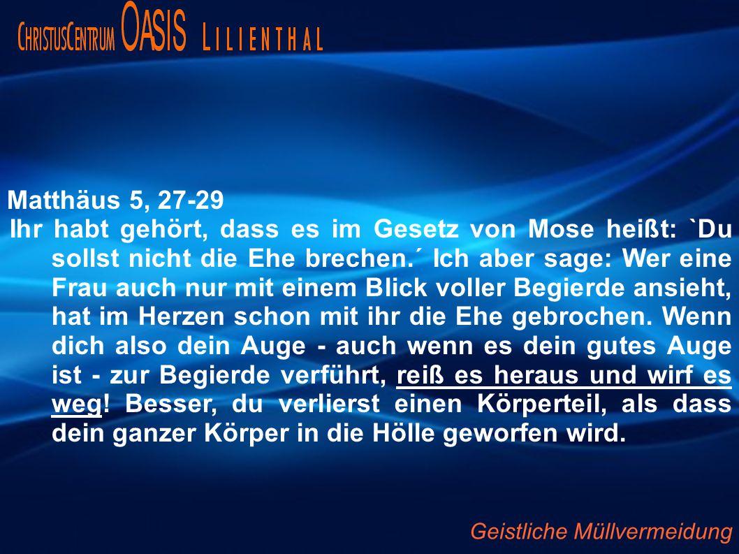 Matthäus 5, 27-29