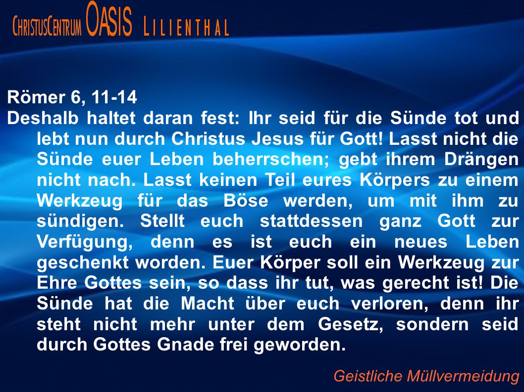 Römer 6, 11-14