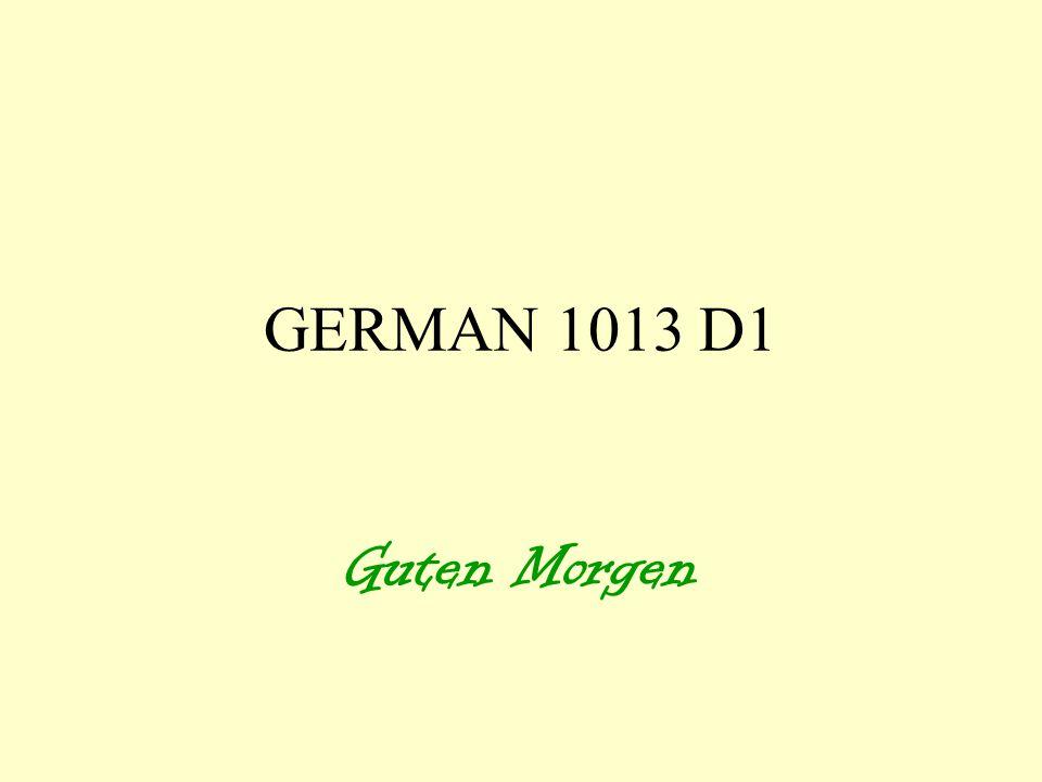 GERMAN 1013 D1 Guten Morgen