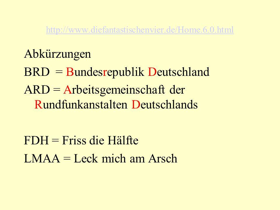 BRD = Bundesrepublik Deutschland