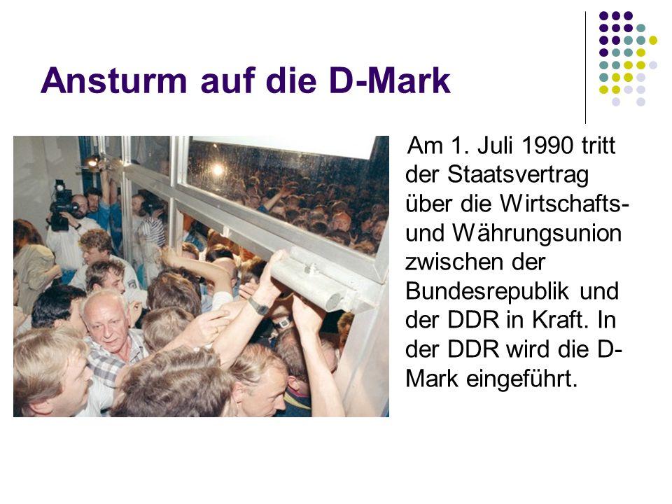 Ansturm auf die D-Mark