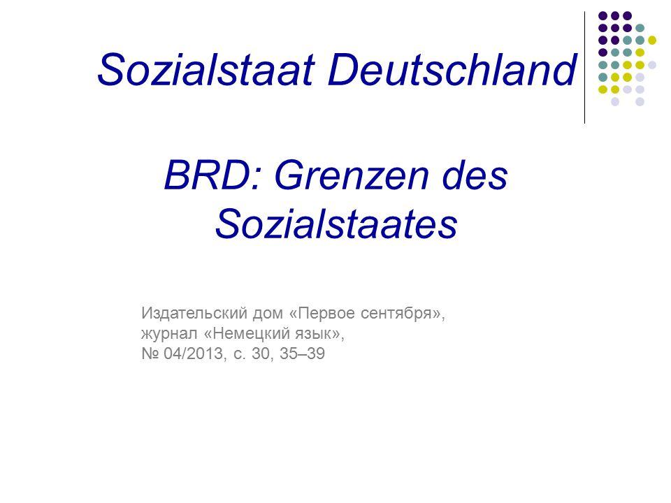 Sozialstaat Deutschland BRD: Grenzen des Sozialstaates