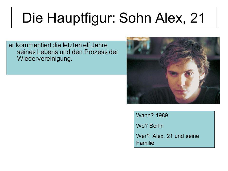 Die Hauptfigur: Sohn Alex, 21