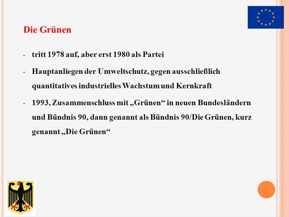 Die Grünen tritt 1978 auf, aber erst 1980 als Partei