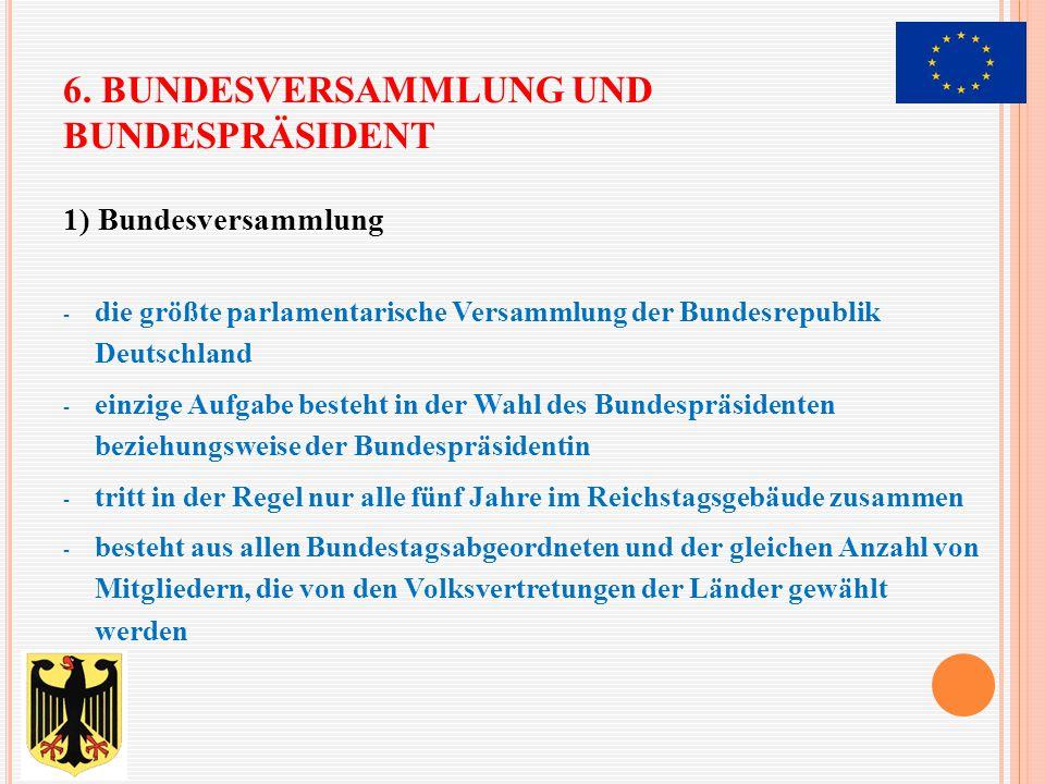 6. Bundesversammlung und Bundespräsident