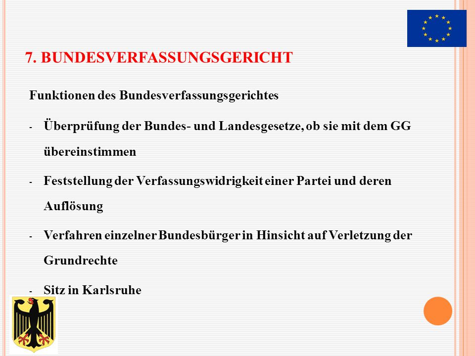 7. Bundesverfassungsgericht