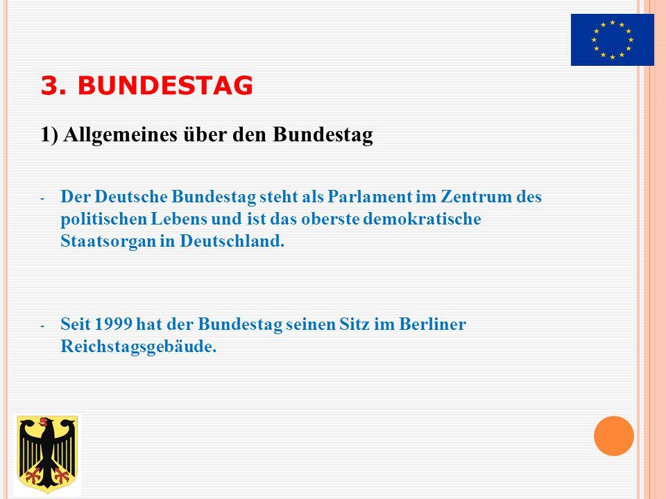 3. BUNDESTAG 1) Allgemeines über den Bundestag