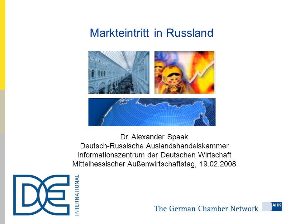 Markteintritt in Russland