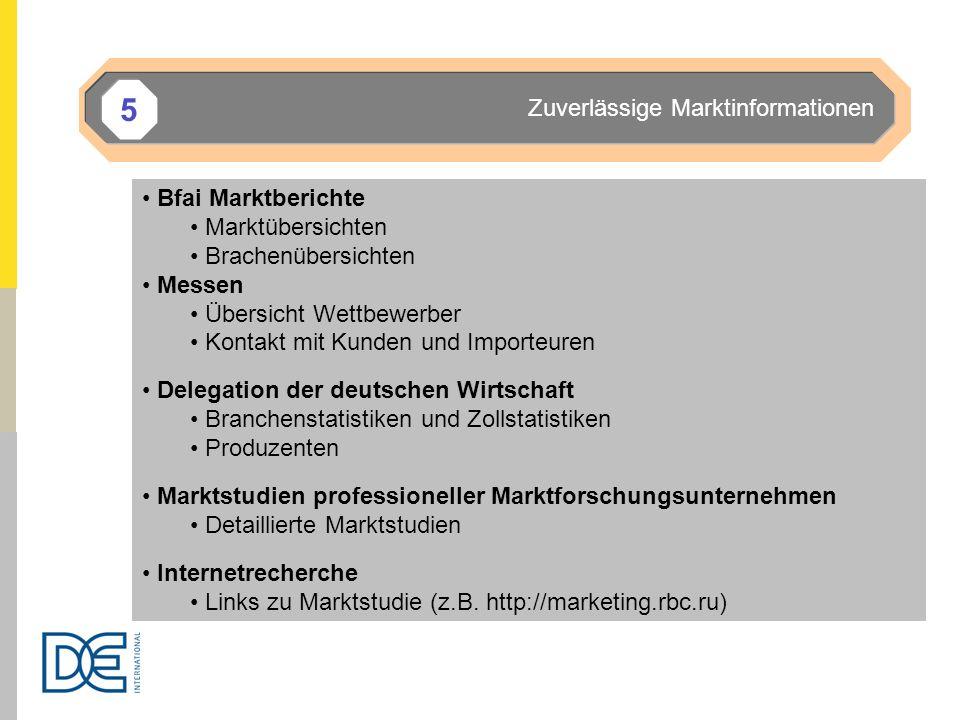 5 Zuverlässige Marktinformationen Bfai Marktberichte Marktübersichten