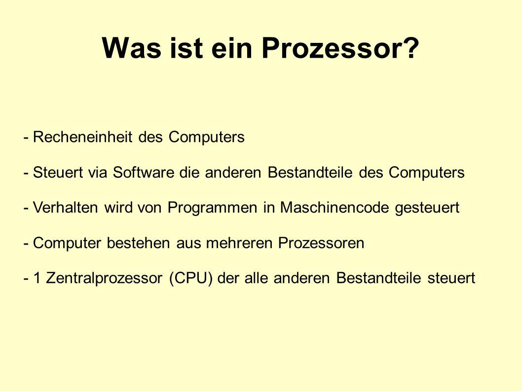 Was ist ein Prozessor - Recheneinheit des Computers