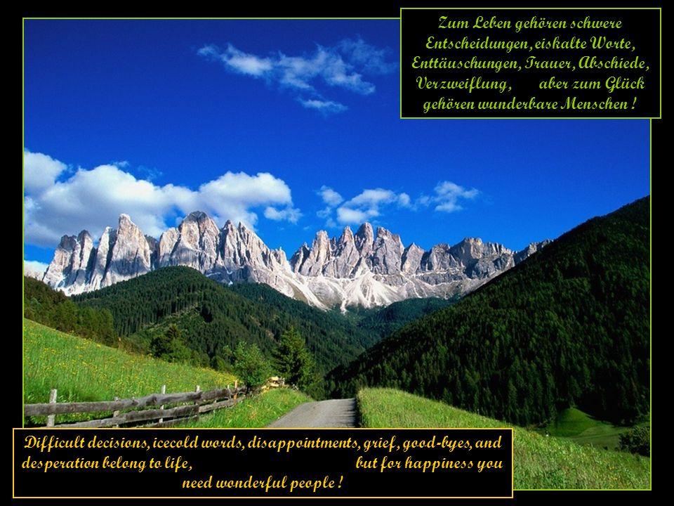 Zum Leben gehören schwere Entscheidungen, eiskalte Worte, Enttäuschungen, Trauer, Abschiede, Verzweiflung, aber zum Glück gehören wunderbare Menschen !