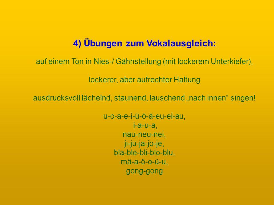 4) Übungen zum Vokalausgleich: