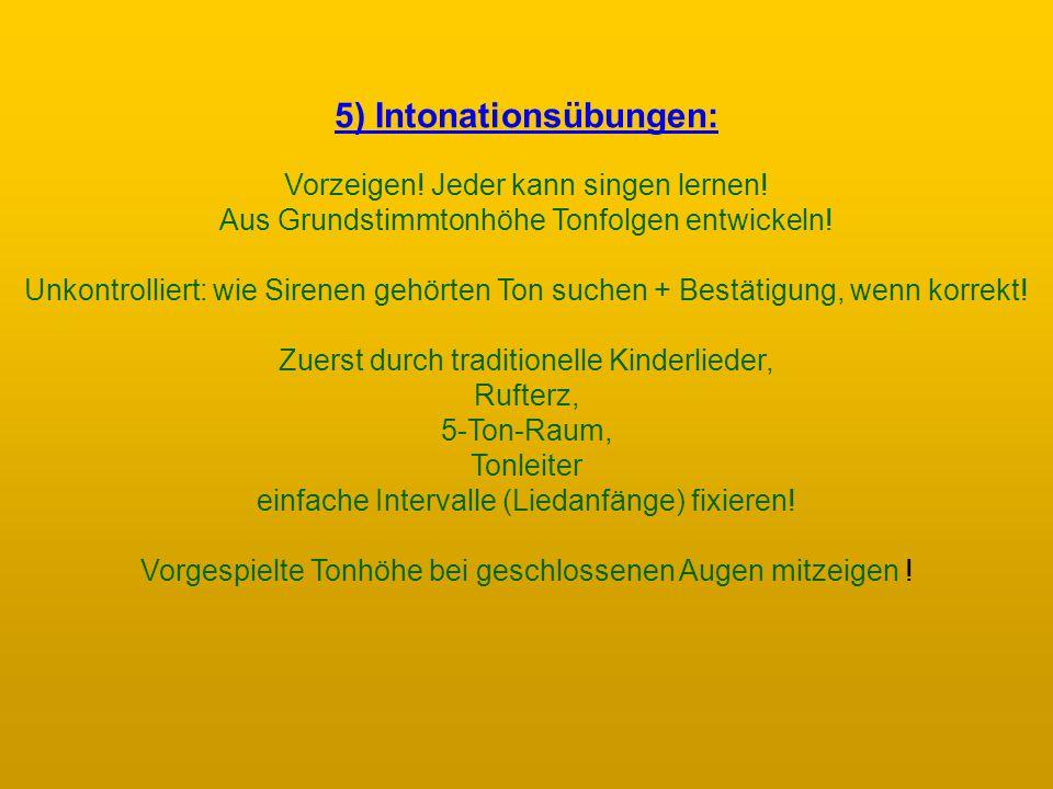 5) Intonationsübungen: