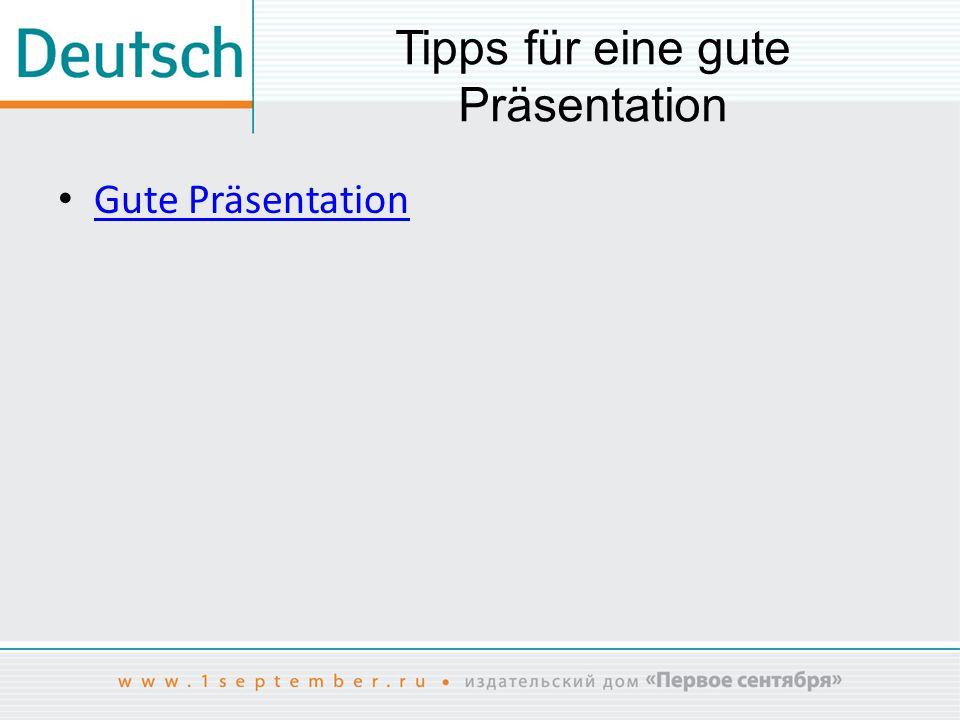 Tipps für eine gute Präsentation