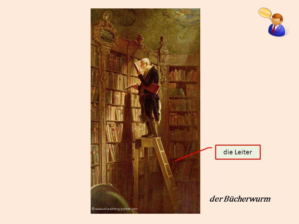 die Leiter der Bücherwurm