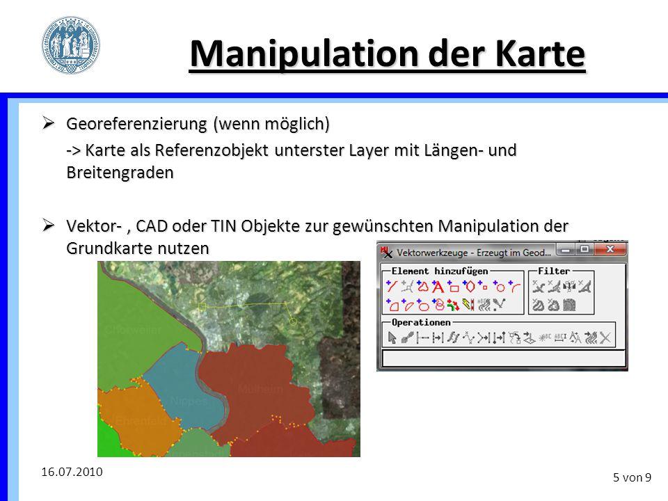 Manipulation der Karte