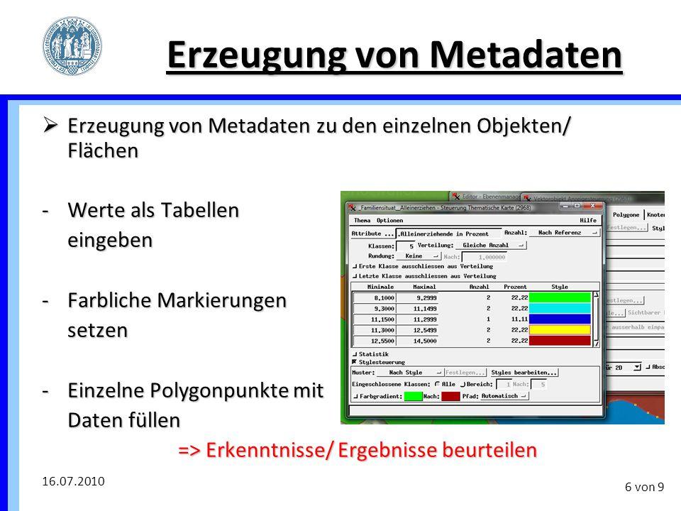 Erzeugung von Metadaten